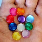 Пуговицы стеклянные разноцветные