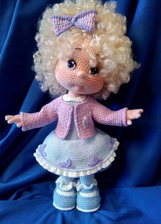 Кукла вязаная Шарлотта ручной работы на заказ