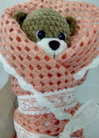 Мишка вязаный Тедди ручной работы на заказ