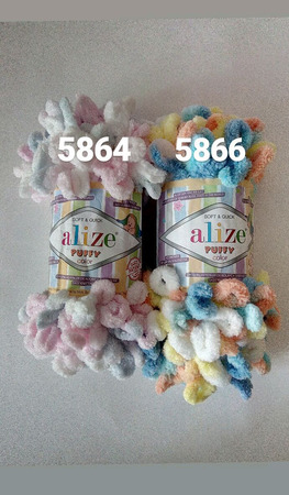 Плюшевая пряжа Alize puff ручной работы на заказ