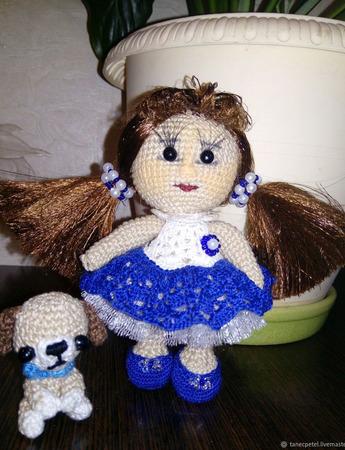 Кукла крючком Василина ручной работы на заказ