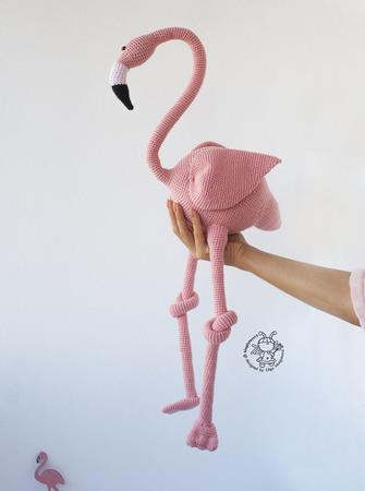 """Мастер-класс """"Большой Фламинго крючком"""" ручной работы на заказ"""