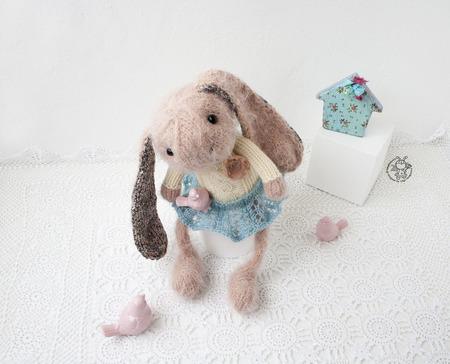 """Мастер-класс """"Милый розовый кролик """" ручной работы на заказ"""