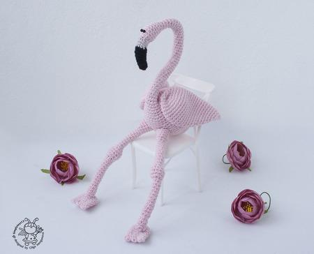 """Мастер-класс """"Розовый Фламинго крючком """" ручной работы на заказ"""
