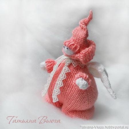Ангел в коралловом. Игрушка авторская, интерьерная, детская. ручной работы на заказ
