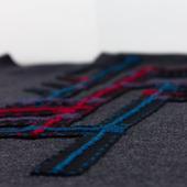 Джемпер длинный, с вышивкой Геометрия 2, шерсть