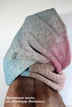 Снуды: Шарф снуд шапка хомут в 2 оборота шерстяные ручной работы на заказ