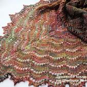 Шаль красивая разноцветная из эксклюзивного мериноса Малабриго Буйство красок