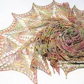Шаль красивая разноцветная из эксклюзивного мериноса Малабриго 8 Марта