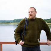 """Мужской свитер """"Шотландский лес"""""""