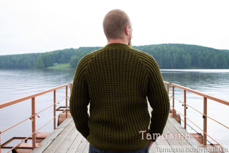 """Мужской свитер """"Шотландский лес"""" ручной работы на заказ"""