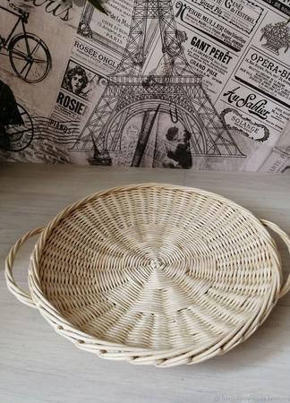 Плетеные подносы ручной работы на заказ