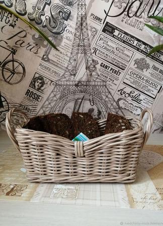 Плетеная корзинка для хлеба ручной работы на заказ