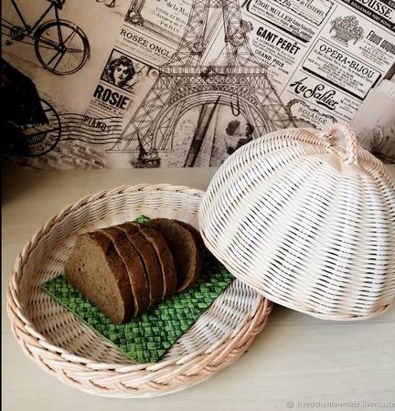 Плетеная хлебница ручной работы на заказ