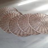 Плетеные салфетки сервировочные 6 шт