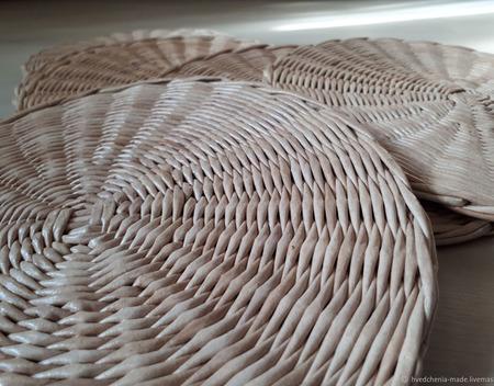 Плетеные салфетки сервировочные 6 шт ручной работы на заказ