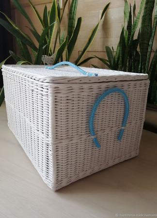Плетеный короб белый ручной работы на заказ
