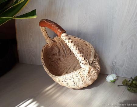 Плетеная корзина ручной работы на заказ