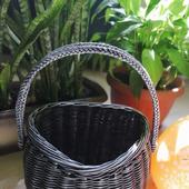 Плетеная интерьерная корзинка