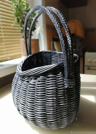 Плетеная интерьерная корзинка ручной работы на заказ