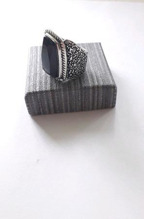 Перстень с дымчатым кварцем ручной работы на заказ