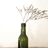 Бутылка винная оливковое стекло маленькая бутылочка