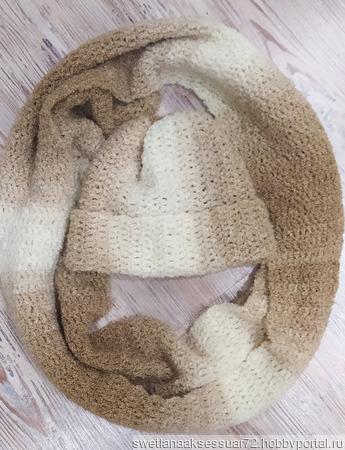 Комплект снуд и шапочка букле ручной работы на заказ