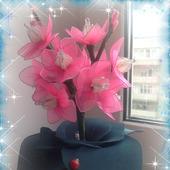 """Ночник из капрона """"Букет цветов"""""""