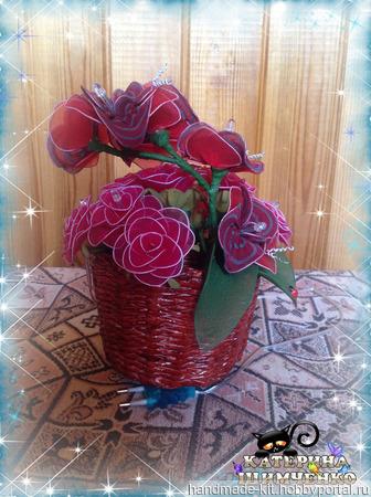 """Ночник из капрона """"Розы"""" ручной работы на заказ"""