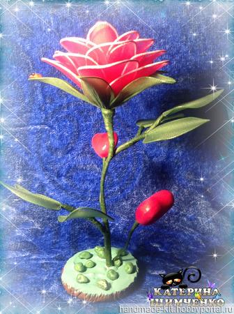 """Интерьерная композиция """"Роза для любимой"""" ручной работы на заказ"""