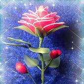 """Интерьерная композиция """"Роза для любимой"""""""