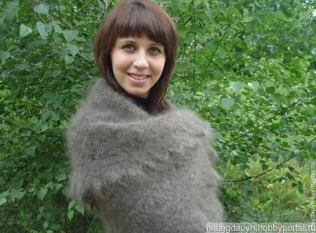 Оренбургский пуховый платок ручной работы на заказ