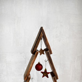 Новогодняя деревянная елка Винтаж