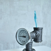 Настольный органайзер/карандашница с термометр в стиле Лофт/Индастриал