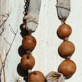 Бусы из дерева «November tree»