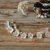 Комплект браслетов в винтажном стиле «Стеклянные цветы»
