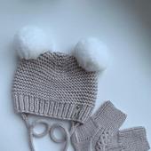 Зимняя шапочка с носочками