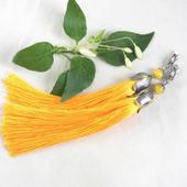 Серьги-кисти желтые