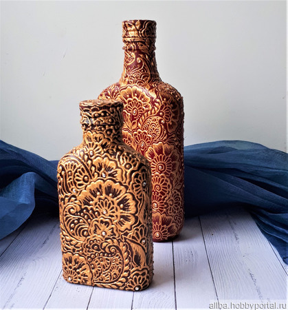 Бутылка декоративная Мехенди 2 ручной работы на заказ