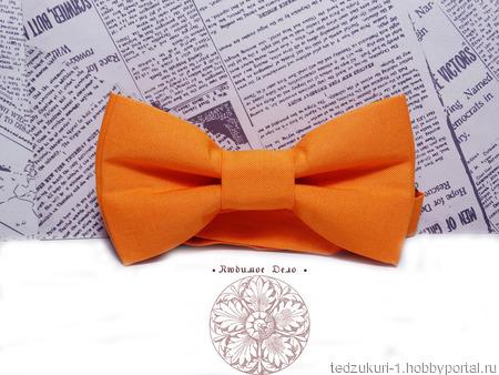 "Галстук - бабочка ""Оранжевая"" ручной работы на заказ"