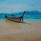"Картина ""Лодка у моря"""