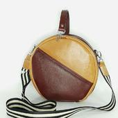 Кожаная сумка-ракушка