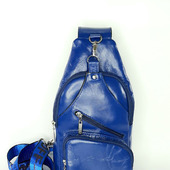 Кожаный  однолямочный рюкзак слим