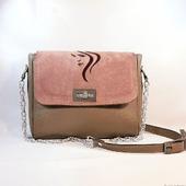 Кожаная сумочка с вышивкой