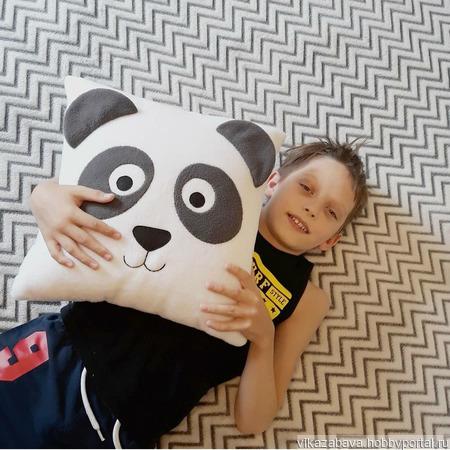 """Подушка-игрушка """"Панда"""" ручной работы на заказ"""