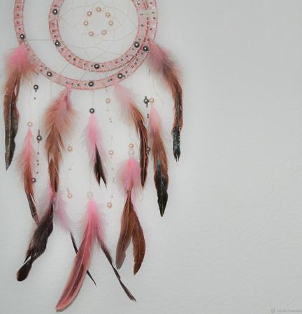 Розовый ловец снов ручной работы на заказ