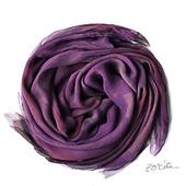 Черничный шелковый шарф батик