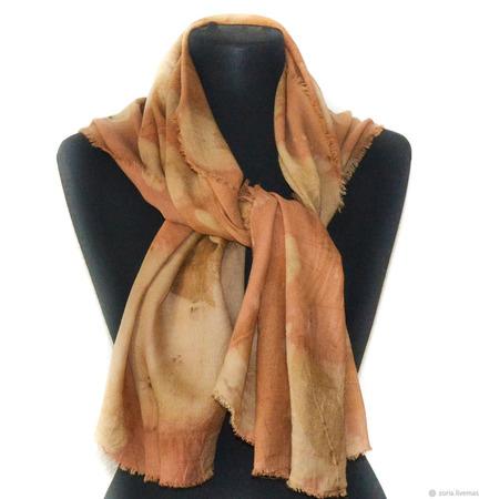 Кашемировый шарф ручной работы ручной работы на заказ