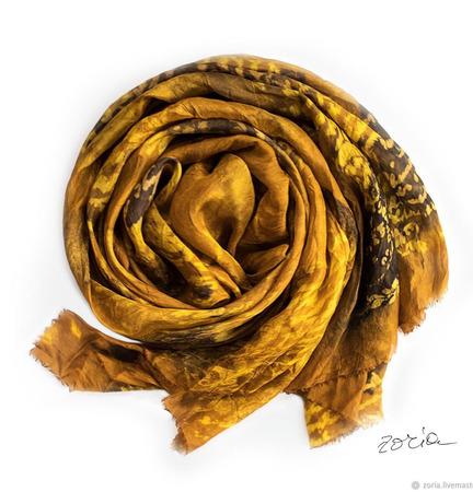 Шелковый шарф батикоты ручной работы на заказ