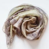 Шелковый платок эко принт